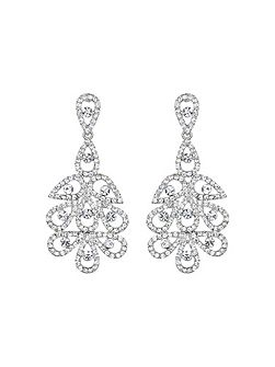 Multi oval linked crystal drop earring