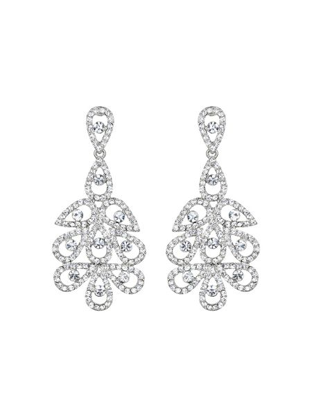 Mikey Multi oval linked crystal drop earring