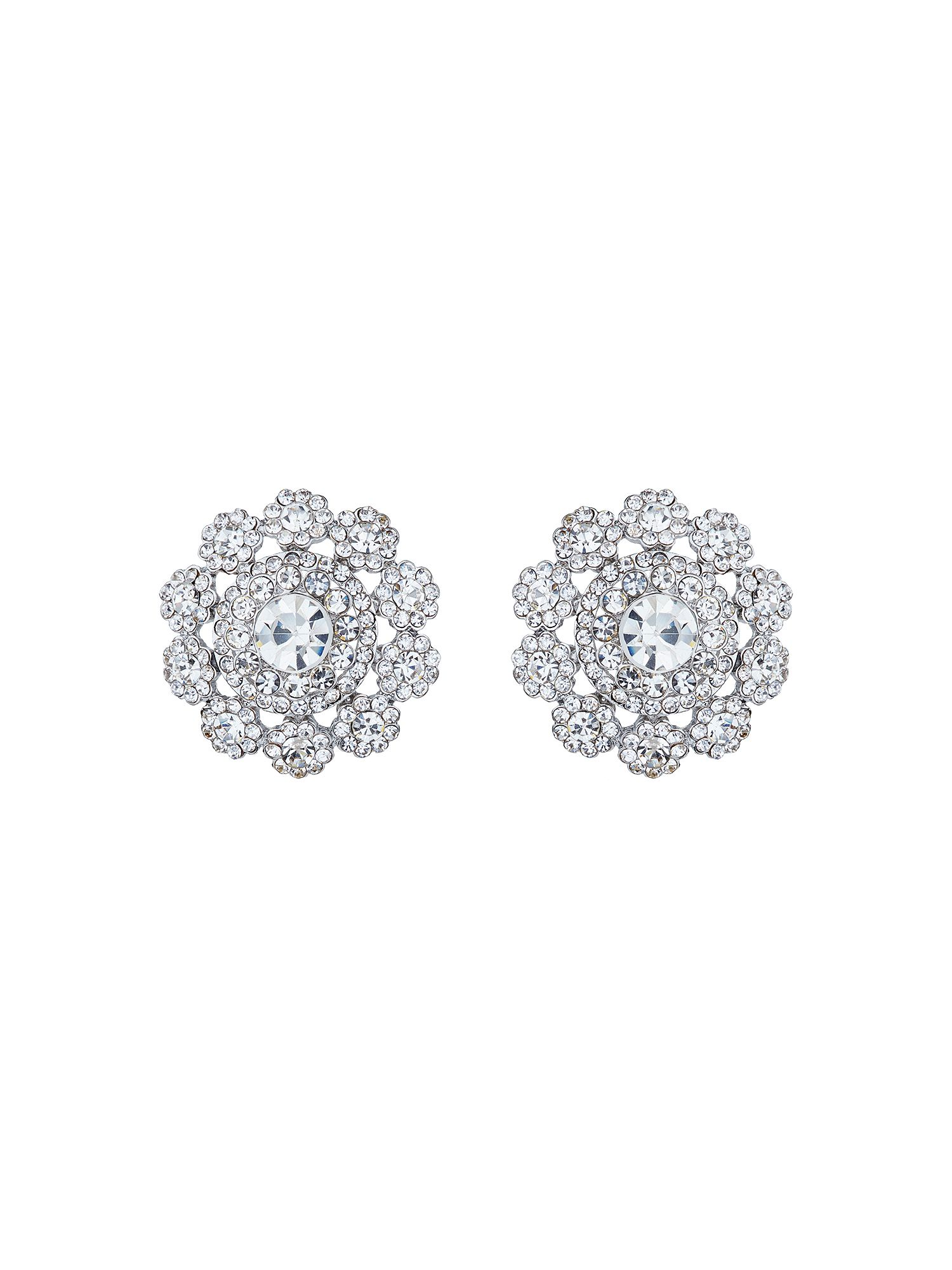 mikey filigree round raised stud earring