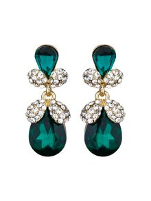 Mikey Twin oval fruit crystal drop earring