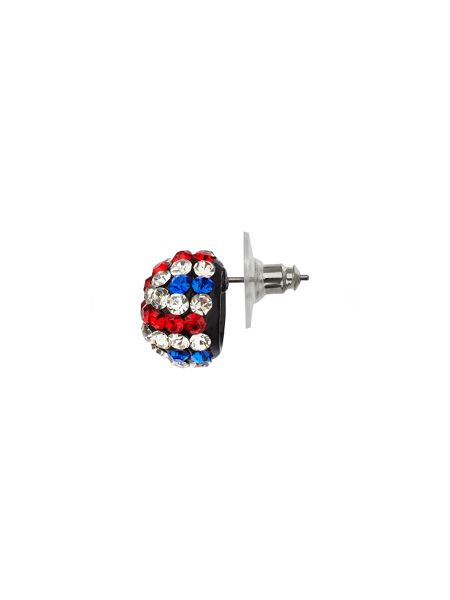 Mikey Crystal hanging disc tie bracelet