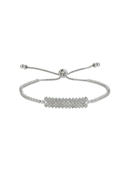 Mikey Rectangle flat crystal linked tie bracel