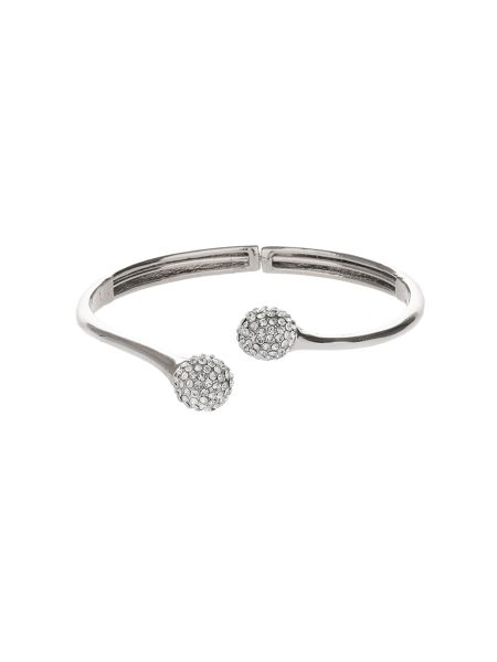 Mikey Both End Cubic Balls Cuff Bangle