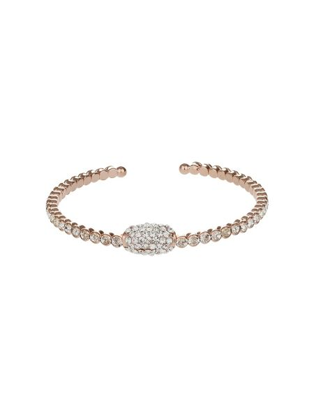 Mikey Oblong Cubic With Crystal Cuff Bangle