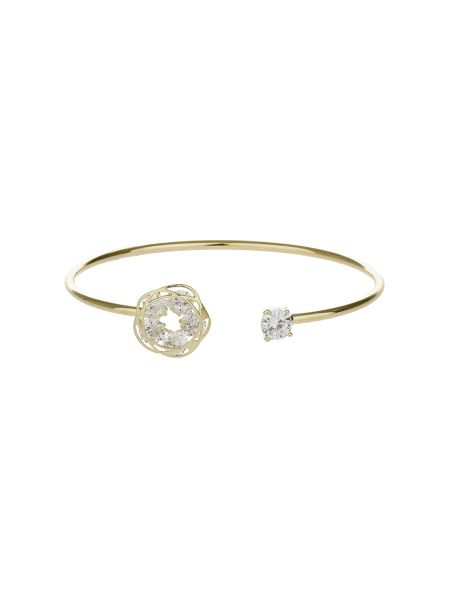 Mikey Daisy End And Cubic End Cuff Bangle