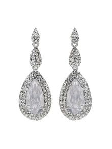 Mikey Ecilpse Cubic Suuround Drop Earring