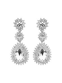 Mikey Oval stone spikey surround drop earring