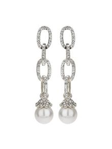 Mikey Chain Design Cubic Drop Earring