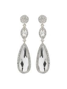 Mikey Large Eclipse Cubic Stone Drop Earring