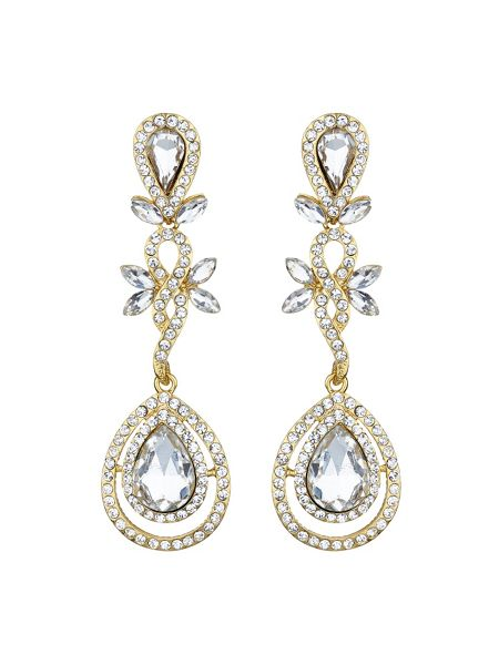 Mikey Eclipse cubic flower drop earring