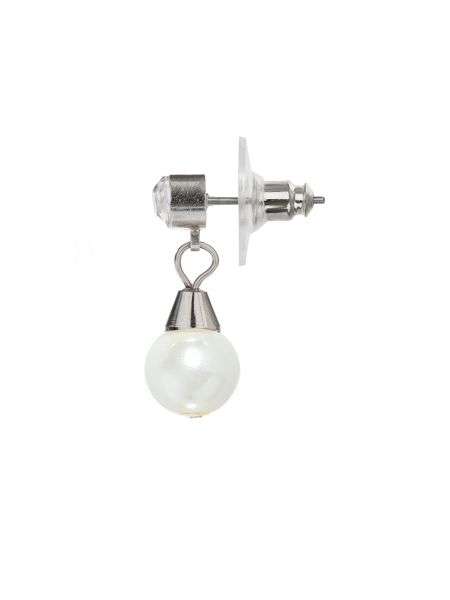 Mikey Twin Line Pearl Oval Pendant Crystal Set