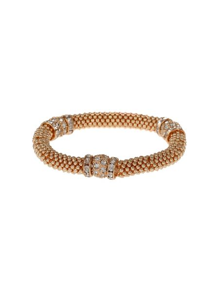 Mikey Metal Chain Crystal Cylinder Bracelet