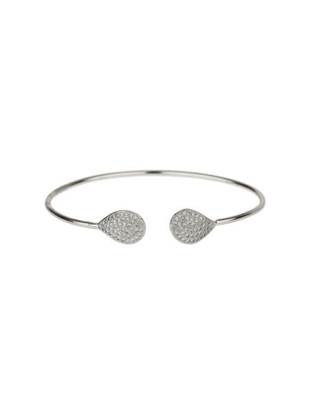 Mikey Crystal studded oval disc end cuffs