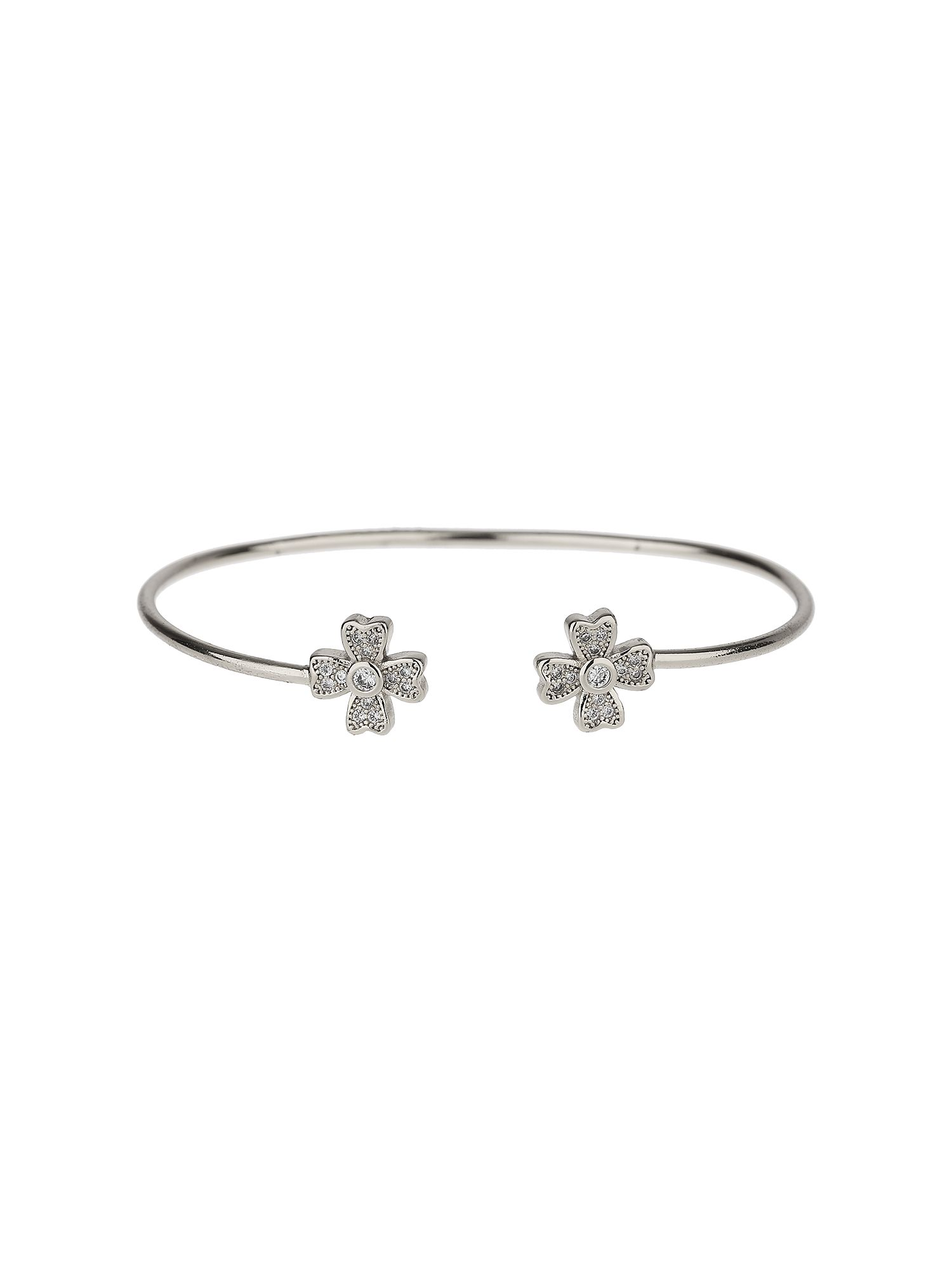 mikey crystal studded daisy disc end cuffs