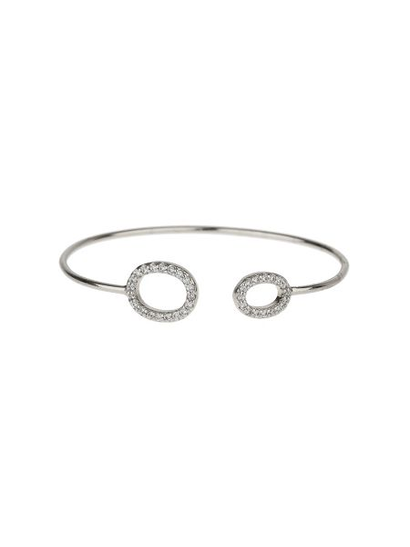 Mikey Crystal circle disc both end cuffs