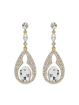 Oval Design Crystal Stones Earring