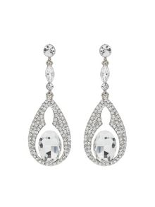 Mikey Oval Design Crystal Stones Earring