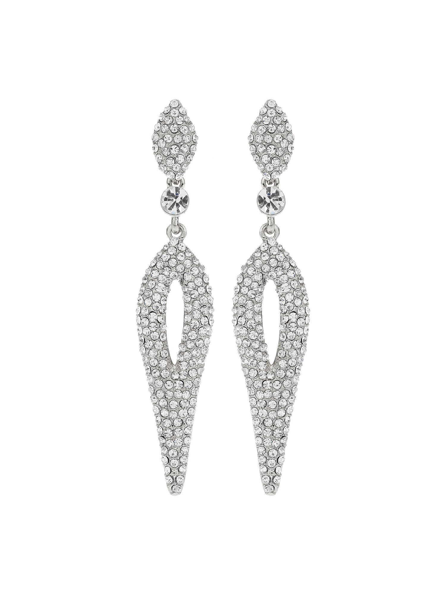 mikey eclipse design studded crystal earring