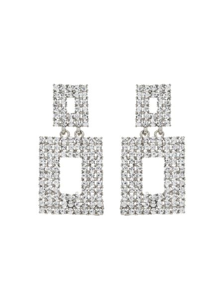 Mikey Square Design Crystal Studded Earring