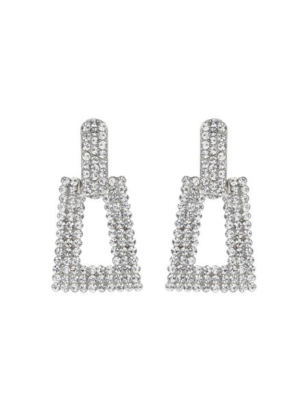 Mikey Triangle Design Crystal Studded Earring