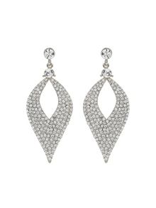 Mikey Eclipse Design Crystal Studded Earring