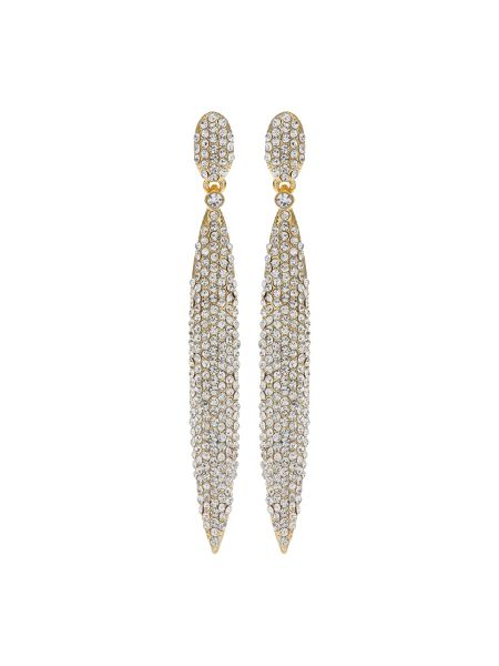 Mikey Pencil Design Crystal Studded Earring
