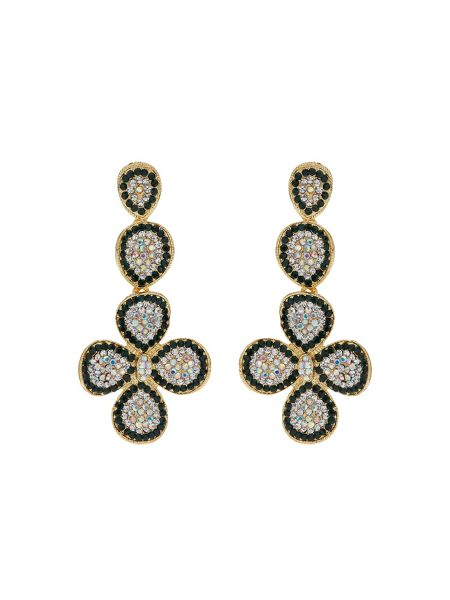 Mikey Flower Design Crystal Studded  Earring