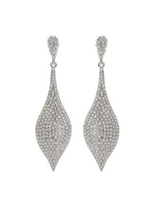 Mikey Palm Leaf Drop Crystal Studded  Earring