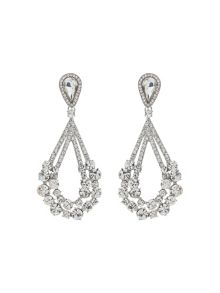Mikey Large Stones Crystal Studded  Earring