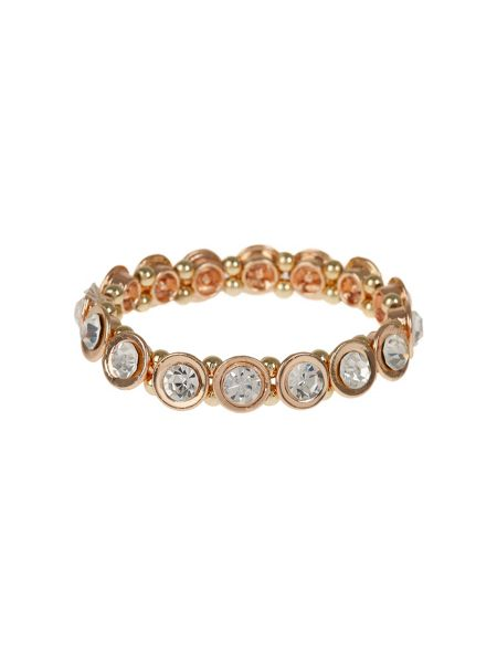 Mikey Round Cased Cubic Stones Bracelet
