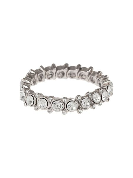 Mikey Round Cased Cubic Linked Stones Bracelet
