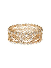 Mikey Abstract Filigree Cubic Elastic Bracelet
