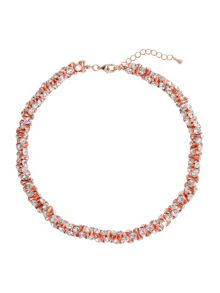 Mikey Cubic Dumbell Beads Linked Necklace