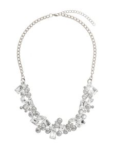 Mikey Multi Round Rectangle Crystals Necklace