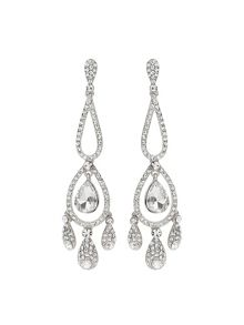 Mikey Long Eclipse Crystal Drop Earring
