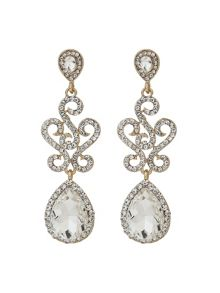 Mikey Twisted Filigree Oval Drop Earring