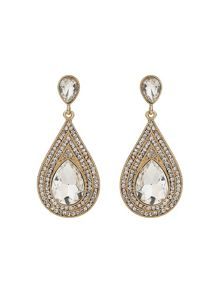 Mikey Oval Crystal Studded Edged Earring