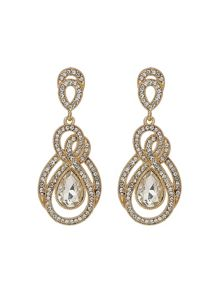 Mikey Twisted Filigree Long Drop Earring