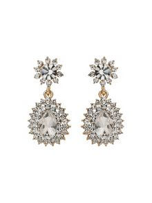 Mikey Oval Stone Studded Spike Edged Earring