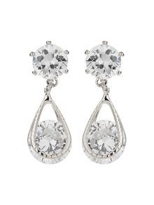 Mikey Crystal Bead Dangling Drop Earring