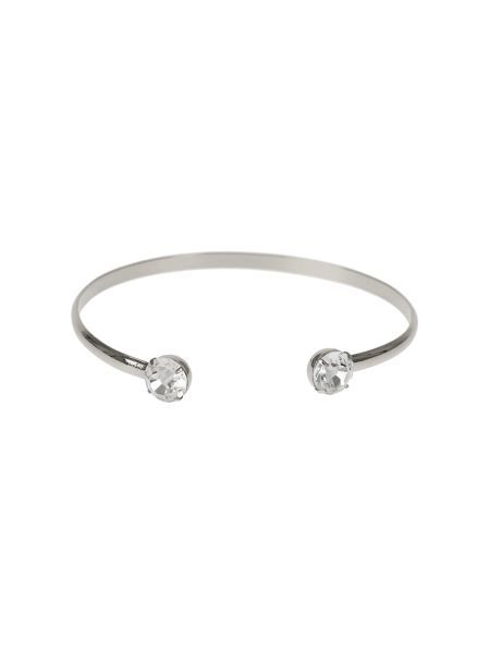 Mikey Crystal Cap End Wire Cuff Bracelet