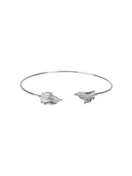 Mikey Leaf Cap End  Wire Cuff Bracelet