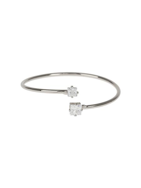 Mikey Crystal Heart Cap End  Wire Cuff