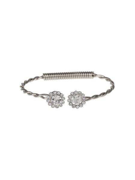 Mikey Large Crystal Caps Twisted Centre Cuff