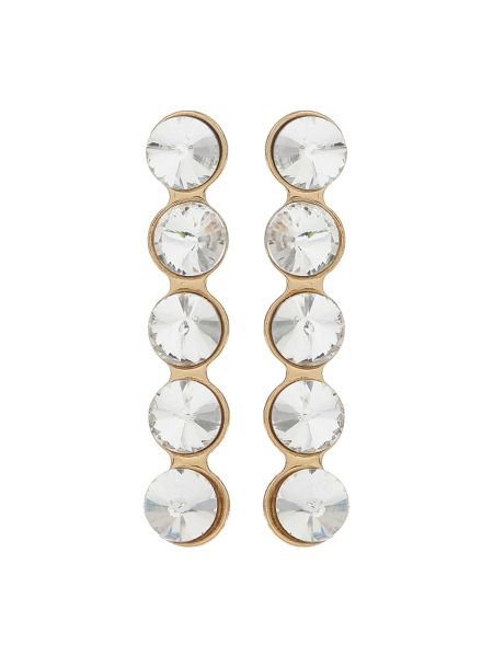 Mikey Crystal Circle Drop Stud Earring