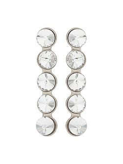 Crystal Circle Drop Stud Earring