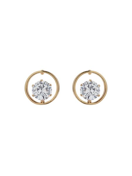 Mikey Circle Ring Citrcle Stone Stud Earring
