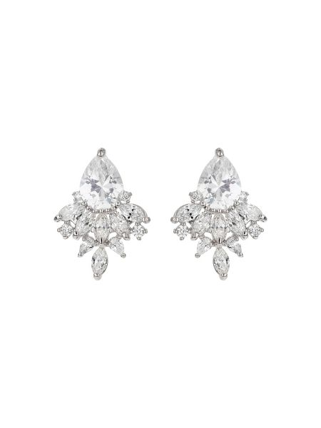 Mikey Oval cubic filligree stus earring