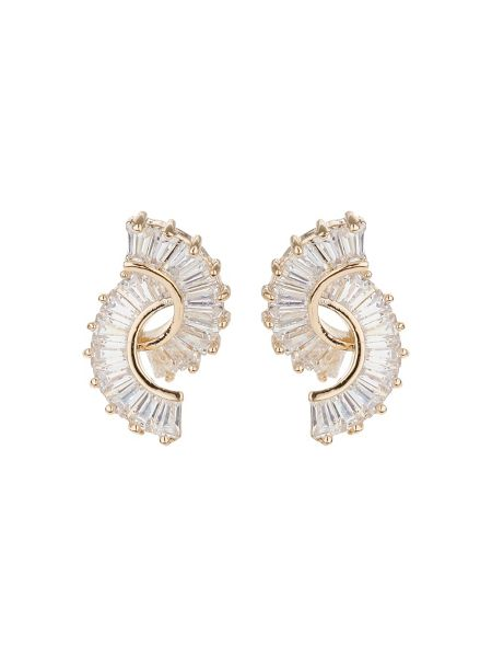 Mikey Twin curved baugette swing earring