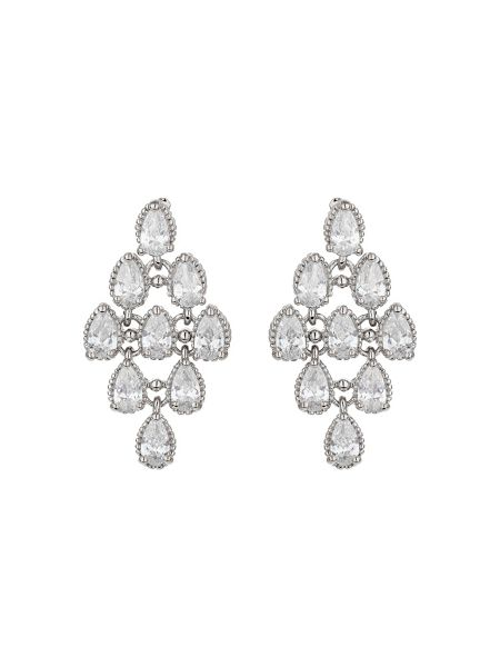 Mikey Leaf design water drop cubic earring